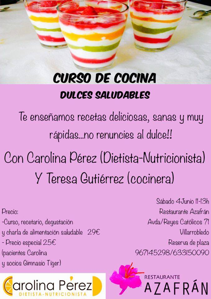 Cursos de cocina junio 2016 azafr n restaurante for Cursos de cocina en badajoz